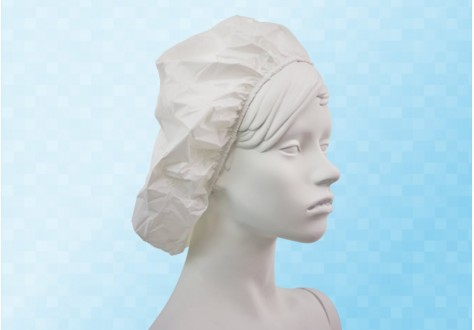 Bonnette élastiquée pour protection des cheveux en poluyréthane