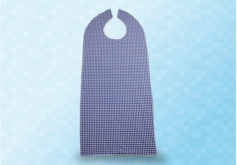 Bavoir premium motif vichy et bouclette éponge PVC