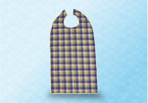 Bavoir adulte de protection coton et PVC écossais