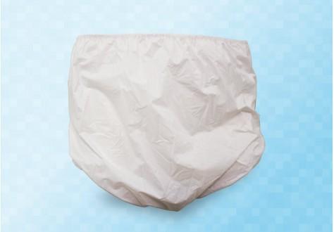 Culotte élastiquée imperméable en PVC film polyuréthane doublure coton