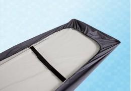 Drap-housse bactériostatique pour brancard avec élastique